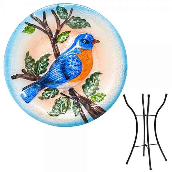 Bluebird Bird Bath with Stand