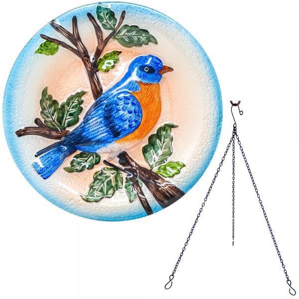 Bluebird Hanging Bird Bath