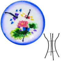 Dragonfly Trio Bird Bath with Stand-SE5014