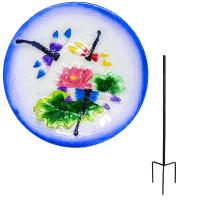 Dragonfly Trio Staked Bird Bath-SE5015