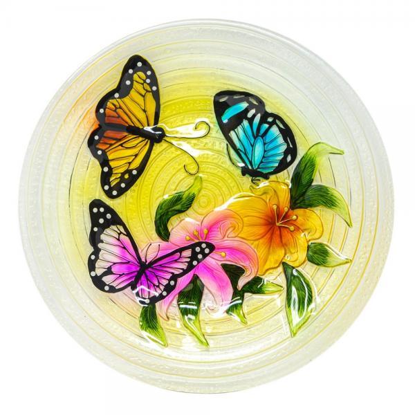 Butterfly Trio Bird Bath