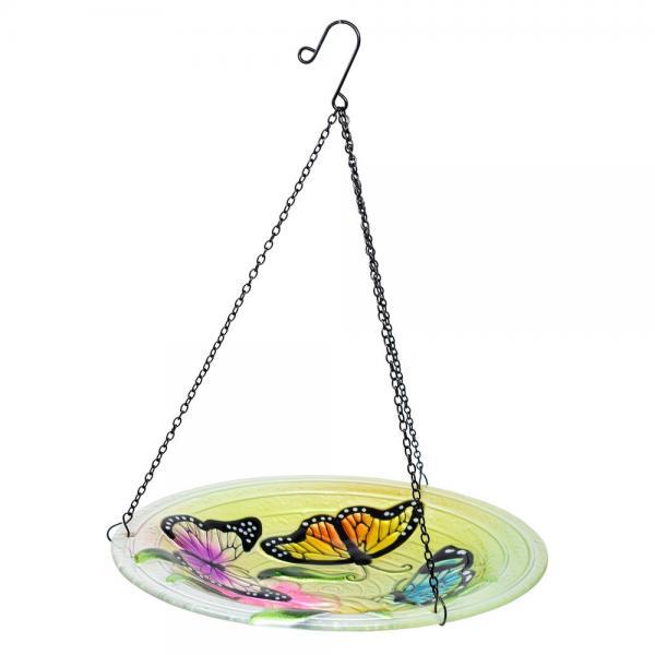 Butterfly Trio Hanging Bird Bath