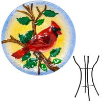 Majestic Cardinal Bird Bath with stand-SE5023
