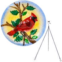 Majestic Cardinal Hanging Bird Bath-SE5025