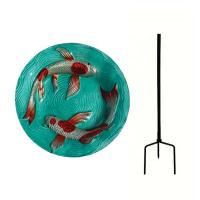 Koi Pond Staked Bird Bath-SE5028