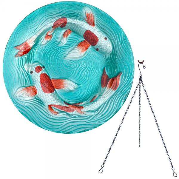 Koi Pond Hanging Bird Bath