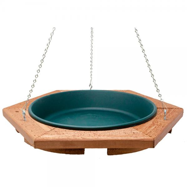 Mini Hanging Bird Bath Green