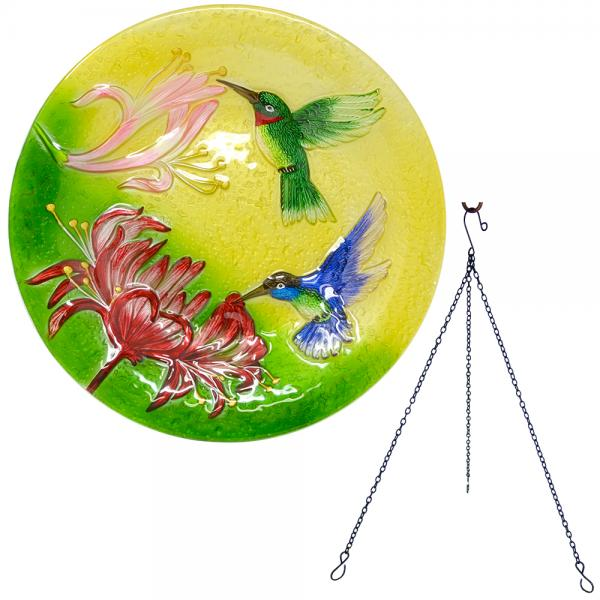 Fluttering Hummingbirds Hanging Bird Bath