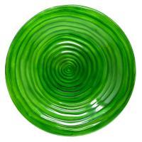 Hunter Green Glass Birdbath-SE5074