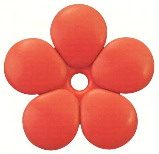 Pack of 5 Red Replacement Flowers SE6007'