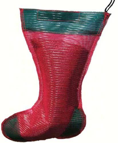 Jumbo Holiday Thistle Sack Red and Green/Gift Sack SE656