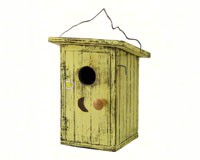 Birdie Loo Yellow Bird House-SE911