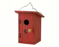 Birdie Loo Red Bird House-SE912