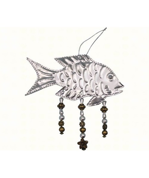 Bead Punched Metal Fish Ornament SE9140117