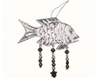 Bead Punched Metal Fish Ornament-SE9140117