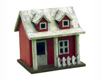 Picket Fence Cottage Bird House-SE921