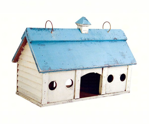 Blue Stable Bird Feeder Small SE924'