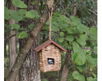 Hanging Grass Roosting Pocket with Roof-SE935
