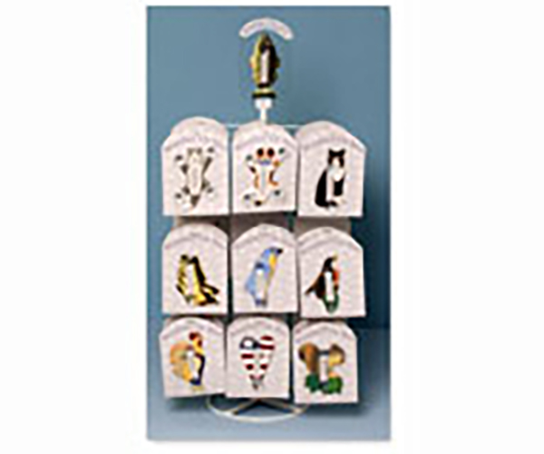 Tabletop Display for Small Window Thermometers or Single Wallhooks (holds 18 styles) SE9999932'