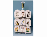 Tabletop Display for Small Window Thermometers or Single Wallhooks (holds 18 styles) SE9999932