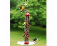 17in. Red Spiral Sunflower Feeder SEBQSBF3R