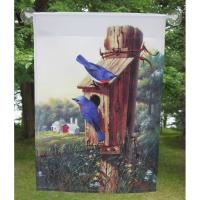 Flag Large, Summer Bluebirds-SEEK6708
