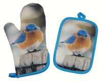 Potholder and Oven Mitt Set Mad Bluebird-SEEK9624