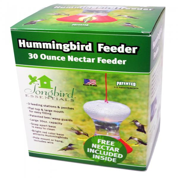 30 oz Hummingbird Feeder with Nectar Fliteline