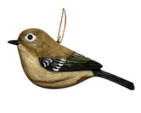 Ruby Crowned Kinglet Ornament-SEFWC163