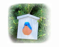 BlueBird House Ornament-SEFWC178