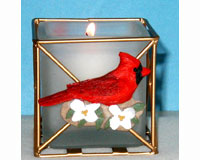 Cardinal Candle Holder-SEFWC22C