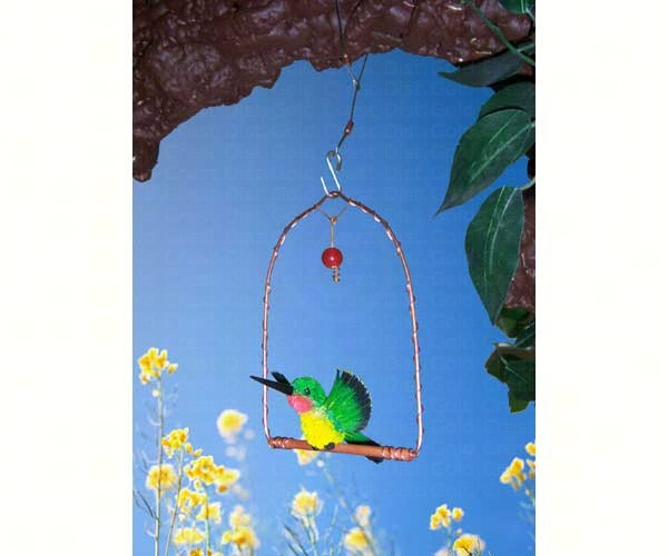 Display Copper hummingbird Swing withhummingbird SEHHHUMSD'