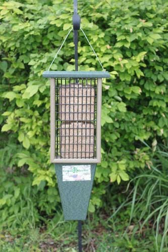 Double Suet Feeder Hunter Green Driftwood SERUBDSF200HD