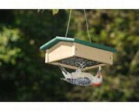 Small Upside Down Suet Feeder Hunter Driftwood-SERUBSUDF100HD