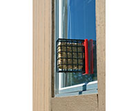 Red Suet Window Feeder SERUBSWFR