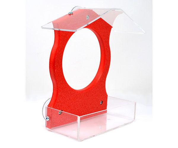 Red Window Feeder SERUBWFR