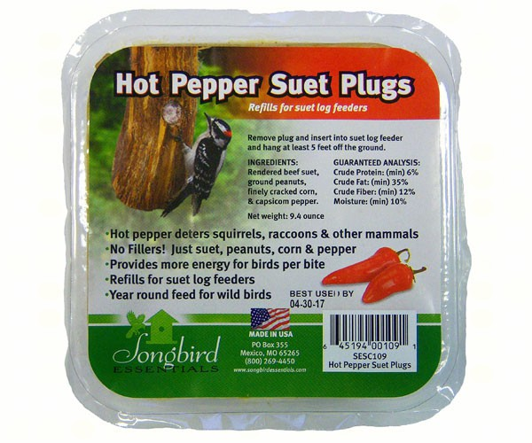 Songbird Suet Plugs Hot Pepper SESC109'