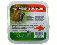 Songbird Suet Plugs Hot Pepper-SESC109