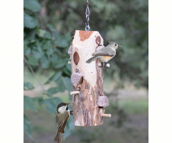3 Plug Suet Log With Perches SESCS409