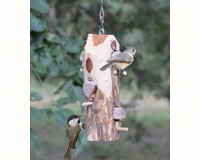 3 Plug Suet Log With Perches-SESCS409
