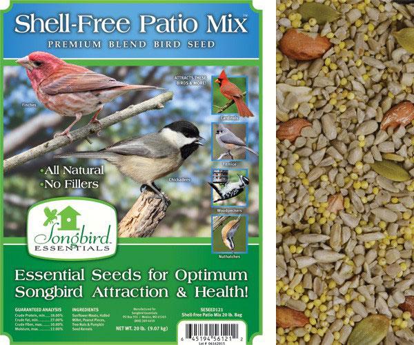 Shell-Free Patio Mix, 20 lb. + FREIGHT