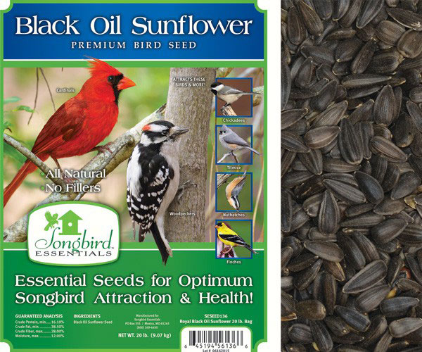 Songbird Black Oil, 20 lb. NF + FREIGHT