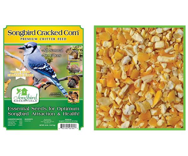 SONGBIRD CRACKED CORN, 20 LB + FREIGHT