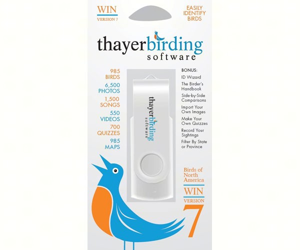 Thayer's Birds of North America Version 7 USB Flash Drive Windows Edition