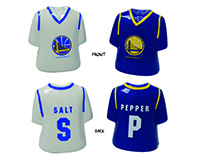 Golden State Warriors Ceramic Jersey Salt and Pepper-MC612GSW