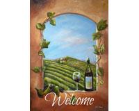Vineyard View Welcome Garden Flag-TOL1112079
