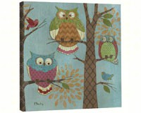Fantasy Owls Vertical Art Plaque-TFG85515