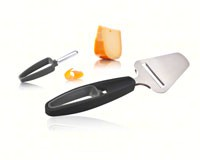 Plus Tools Cheese Slicer + Rind Peeler - Dark Grey-VACUVIN4654360