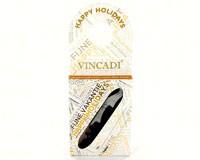 Bottleneck Gift Tag with Corkscrew-Happy Holidays-VIN873