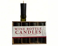Set of 4 Bottle Candles Black-VCCANDLEBlack